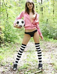 Scalding soccer player